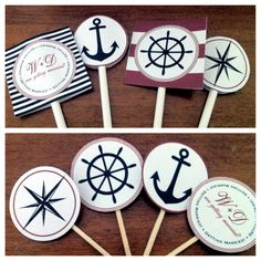 Nautical party decor and cupcake toppers.   Http://www.etsy.com/transaction/86673959?utm_source=transaction_medium=trans_email_campaign=purchase_ftb_alt