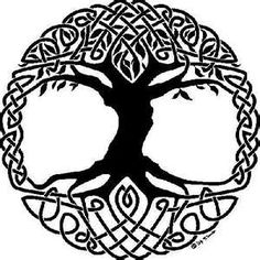 Celtic Tree Of Life - embroidry idea for my Jeans jacket.