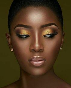 36 Brilliant Daily Makeup Ideas in 2019 for Dark Skin - Makeup Looks Classic Gold Makeup Looks, Black Girl Makeup, Girls Makeup, Makeup Black Women, Gorgeous Makeup, Daily Makeup, Makeup Tips, Beauty Makeup, Eye Makeup