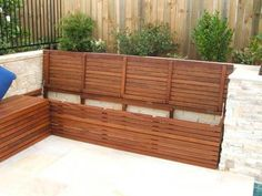 56 ideas for outdoor storage bench seating patio Outdoor Corner Bench, Outside Benches, Patio Bench, Backyard Seating, Garden Seating, Outdoor Seating, Deck Benches, Balcony Bench, Outdoor Lounge