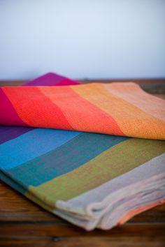 $120 size 4   Girasol Earthy Rainbow Woven Wrap