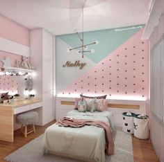 cute and girly bedroom decorating tips for girl 14 3 Girl. cute and girly bedroom decorating tips for girl 14 3 Girl. Unusual Children Bedroom Decoration Ideas That Look Cool 40 bedroom ideas with the latest 2020 fashion trend budget for you 39 Girl Bedroom Walls, Girl Bedroom Designs, Girl Room, Childrens Room Decor, Baby Room Decor, Childrens Bedroom Furniture, Bedroom For Girls Kids, Girls Bedroom Ideas Paint, Bedroom Ideas For Tweens