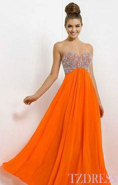 Orange Prom Dresses | ... orange prom dress ball gown strapless ...
