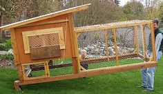 this site is an amazing resource of all sorts of pictures of coops. This one her… this site is an amazing resource of all sorts of pictures of coops. This one here is closest to what I want B to built for our new chickies Chicken Coop Designs, Diy Chicken Coop Plans, Portable Chicken Coop, Backyard Chicken Coops, Building A Chicken Coop, Chickens Backyard, Chicken Run Ideas Diy, Chicken Coop On Wheels, Backyard Ideas