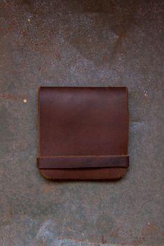 Minimalist Leather Wallet. $20.00, via Etsy.- kia