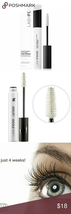 LASHFOOD Conditioning Collagen Lash Primer 3-in-1 primer contains lash extending & thickening microfibers to sculpt lashes, and collagen to plump and boost volume. Great for thin and short lashes. Using this primer as an extra step to your finish lash-look is worth the extra money! Makes drugstore mascara look great.   Enjoy visibly, longer, thicker, stronger-looking lashes with a daily regimen. NIB. Price firm.  I wouldn't recommend dubbing the $85 lash enhancer into daily regimen because…