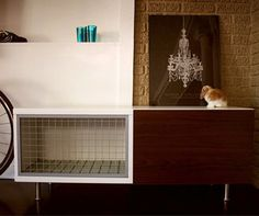a more attractive indoor rabbit hutch, thinking of making a similar one only with more of a shabby chic look, chicken wire and distressed?