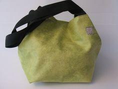 lime green shoulder bag autumn bag  purse cube by LIGONbyRuthi, $69.00