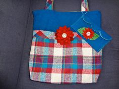 Wool Tote Bag and Clutch by Alfred Woolens