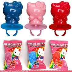 Hello Kitty Ring Pop, treat stuffers - need 24 pcs Hello Kitty Themes, Hello Kitty Birthday Party Ideas, Hello Kitty Stuff, Hello Kitty Favors, Hello Kitty Collection, Cat Ring, Cat Party, 4th Birthday, Birthday Parties