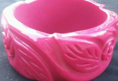 Vintage Finely Carved Chunky Deep Maroon 81 9 Gram Carved Bakelite Bangle | eBay