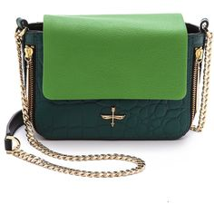 Pour La Victoire Yves Alsace Cross Body Bag - Jade ( 195) ❤ liked on c76d00712b907