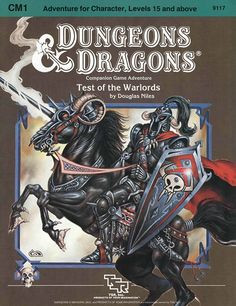 CM1 Test of the Warlords (Basic) | Book cover and interior art for Dungeons and Dragons Basic and Expert Editions - Dungeons & Dragons, D&D, DND, Basic, Expert, 1st Edition, 1st Ed., 1.0, 1E, OSRIC, OSR, Roleplaying Game, Role Playing Game, RPG, Wizards of the Coast, WotC, TSR Inc. | Create your own roleplaying game books w/ RPG Bard: www.rpgbard.com | Not Trusty Sword art: click artwork for source