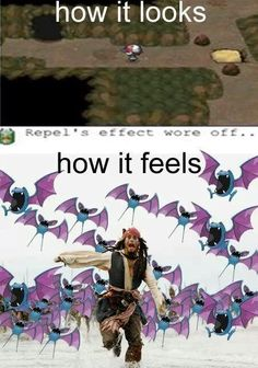 Repel's effect wore off…and how it feels