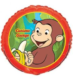 5dc1e8a18e1c5 This Curious George Foil Balloon is a great way to add fun and adventure to  your birthday party decorations. This foil balloon features a colorful  picture ...