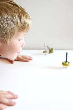 DIY Kid Made Worlds Best Spinning Top via I Can Teach My Child