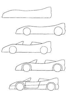 Voiture facile a dessiner recherche google journal pinterest dessin dessin voiture et - Petit quick coloriage ...