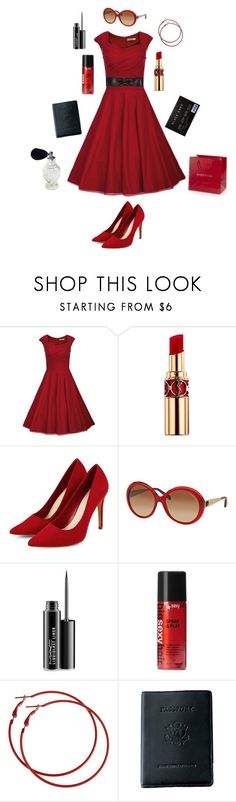 """""""Classy Evening"""" by conquistadorofsorts ❤ liked on Polyvore featuring Yves Saint Laurent, Michael Kors, MAC Cosmetics, Sexy Hair, Royce Leather, Naf Naf and vintage"""