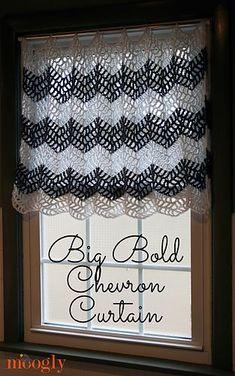 Bold Chevron Curtain | free pattern | ravelry.com