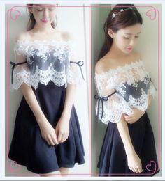 """Color:black.  Size:S.M.L. Size+S: Clothes+length:26+cm/10.14"""".+Bust:82+cm/31.98"""".+Sleeve+length:29+cm/11.31"""".+Dress+length:59+cm/23.01"""".+Bust:68+cm/26.52"""".  Size+M: Clothes+length:28+cm/10.92"""".+Bust:86+cm/33.54"""".+Sleeve+length:30+cm/11.70"""".+Dress+length:62+cm/24.18"""".+Bust:72+cm/28.08"""".  ..."""