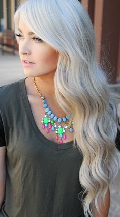 I'd love to be brave enough to do this...oh and that my hair would be healthy enough to handle it :/