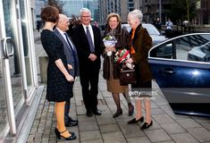 Queen Margrethe of Denmark and Queen Anne-Marie of Greece arrive to Copenhagen University where they participate at a symposium dedicated to the British traveler, writer and WW2 hero Patrick Leigh Fermor on January 26, 2018 in Copenhagen, Denmark. Fermor served as a soldier in Albania and Greece during WW2 and was an SOE at Crete where he organized the islands resistance movement. After the war he published several travel books and received the Destinguised Service Order (DSO) for his war…