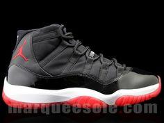 Air Jordan 11(XI) Black Red – Detailed Look