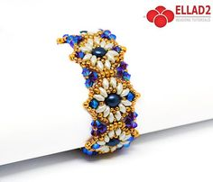 Milly Bracelet is a beautiful evening sparkle bracelet.Beading Tutorial for Milly Bracelet is very detailed, easy to follow, step by step.