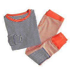 Boys' contrast-stripe sleep set