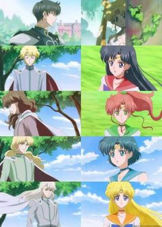 Sailor Moon Crystal I love that they touched on these relationships in the anniversary remake! The original anime didn't touch on nor explain a lot of things. Arte Sailor Moon, Sailor Jupiter, Sailor Venus, Sailor Mars, Sailor Moon Crystal, Sailor Scouts, Disney Marvel, Chica Anime Manga, Anime Art