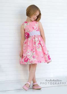Classic Girls Dress Pattern - Perfect Party Dress - Sewing Pattern for Dress with Sash - PDF