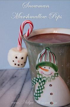 Marshmallow Snowman Pops Love this idea Felicia.. quick treat for last day of school before Christmas break!