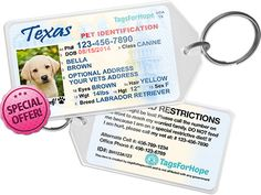 The Best Forever Gift For Your Pet. Every tag purchased helps feed, treat and rescue an animal in need.