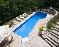 Custom Lap Vinyl Liner In Ground Swimming Pool From Prestige Pools And Spas St