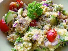 Quinoový letní salát s avokádem
