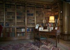 Library corner at Highclere Castle