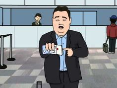 "John Pinette: Still Hungry ""Air Travel"" Animated Clip"