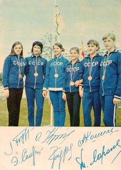 janeavril:  The Soviet gymnastics team at the 1972 Olympics in Munich.