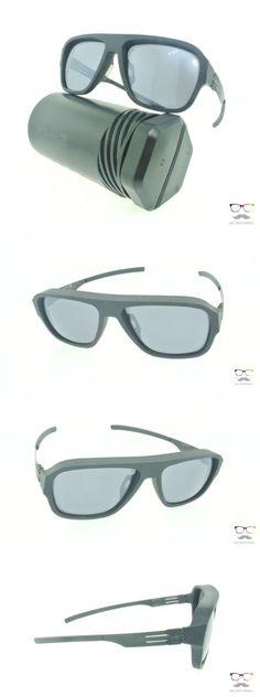 Other Unisex Eyewear 179246: Ic! Berlin Sunglasses I See Black Grey Frozen Mirrored New Aviator Frames -> BUY IT NOW ONLY: $399 on eBay!