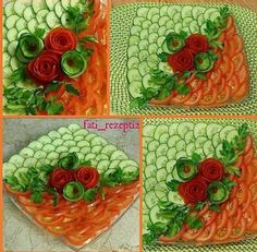 Amazing Food Decoration, Amazing Food Art, Food Crafts, Diy Food, Party Food Platters, Food Art For Kids, Creative Food Art, Fruit And Vegetable Carving, Food Carving