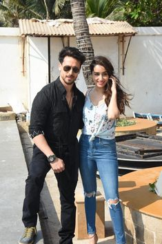 Tiger Shroff and Shraddha Kapoor Bollywood Images, Bollywood Stars, Tiger Shroff, Shraddha Kapoor, Bollywood Actress, Mom Jeans, Actresses, Actors, Fitness