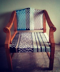 Woven chair handmade in Swaziland by Quazi Design