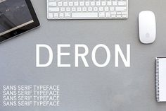 Deron Sans Serif Typeface by Symufa on @creativemarket