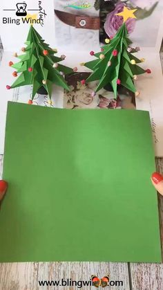 DIY Origami Christmas Tree Craft Try this origami Christmas tree with your family. Happy and easy parenting and education styles.<br>