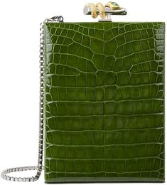 Harrods Ethan K Crocodile Box Clutch Green Clutches, Green Purse, Green Handbag, Purses And Handbags, Leather Handbags, Tote Handbags, Crocodile Handbags, Bags Online Shopping, Unique Purses