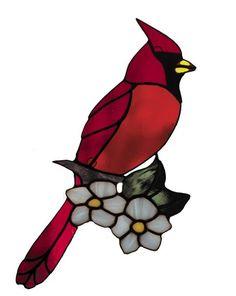 cardinal - #cardinal Stained Glass Cardinal, Stained Glass Ornaments, Stained Glass Birds, Stained Glass Suncatchers, Faux Stained Glass, Stained Glass Panels, Stained Glass Projects, Leaded Glass, Mosaic Glass