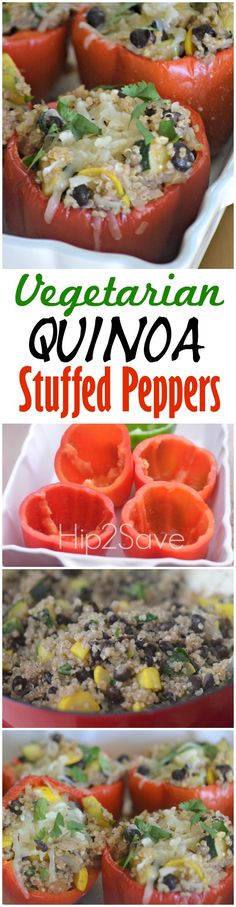 Vegetarian Quinoa Stuffed Peppers (Meatless Monday Series)