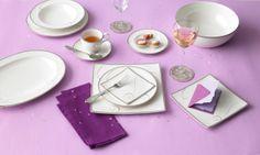 Noritake Platinum Wave Dinnerware Collection #macysdreamregistry
