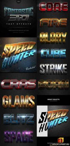 Fantastic 3D Text Effects Vol.9 Layered PSD, Photoshop ASL | 28 Mb Easy to use Fully editable 100% Scalable 10 Different styles High resolution 300 DPI Well organized layers Smart object replacement Work with any font