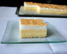 Veľmi šťavnatý, osviežujúci koláč z jogurtu, zvlášť na druhý deň poriadne vychladený. Plech: 26x40 cm. Vanilla Cake, Cheesecake, Food And Drink, Cooking, Apron, Cakes, Diet, Kitchen, Cheese Cakes